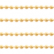 Stainless Steel findings ball chain 1.4mm Gold